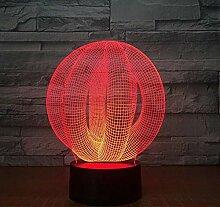 Abstrakte 3d led lampe licht usb nachtlicht bunte