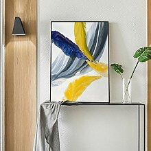 Abstrakte affiche bunte feder leinwand kunst