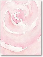 Abstrakte Aquarell Erröten Rosa Rose Malerei