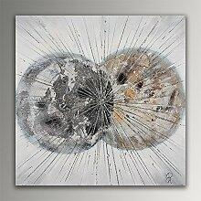 Abstrakte Bälle Acryl Gemälde auf Leinwand von