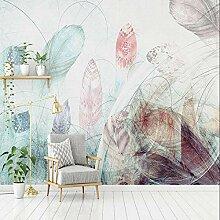 Abstrakte Feder Tapeten Wandbild Für Wohnzimmer