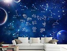 abstrakte Fototapete bunte Sternenhimmel Tapete