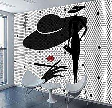 Abstrakte Fototapete Schwarz Weiß Tapeten für 3d