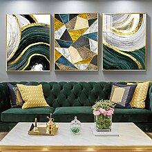 Abstrakte goldgrüne geometrische