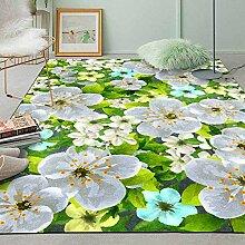 Abstrakte Grüne Pflanze Jasmin Blumenteppich