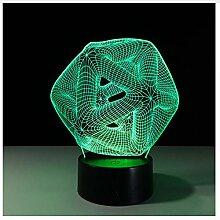 Abstrakte Hohlknoten 3D Acryl Illusion Lampe Für
