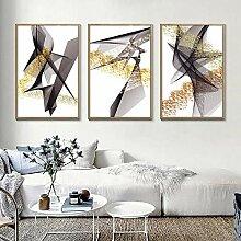 abstrakte Linien des Goldes geometrische Malerei