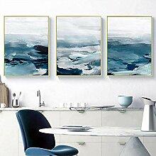 Abstrakte Ozeanlandschaft Wandkunst Leinwand