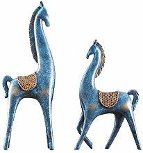 Abstrakte Pferderennen Verzierungen Skulptur