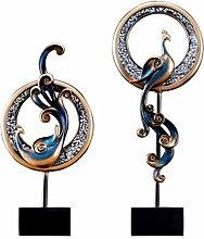 Abstrakte Phoenix Shapes Ornamente Skulptur