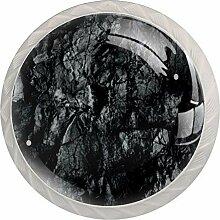Abstrakte Schubladenknauf, rund, aus Glas, für