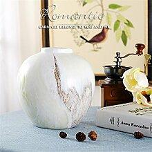Abstrakte Stein Muster Keramik Vase, D für Mittelstücke Weihnachten Geburtstag Hochzeit Party Geschenk Desktop Home Decor
