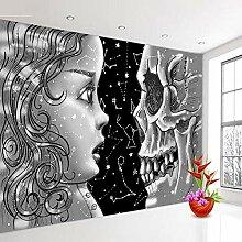 Abstrakte Tapete Schwarz Weiß Tapeten für 3D