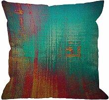 Abstrakte Throw Pillow Cover,Vintage Gefühl im