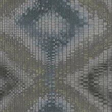 Abstrakte Vliestapete FERUS 201-503 BERLIN Aquarell-Stil Rauten Muster grau-blau mehrfarbig 5,33 qm