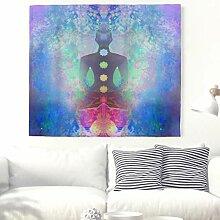 Abstrakte Yoga Meditation mit Sieben Chakren