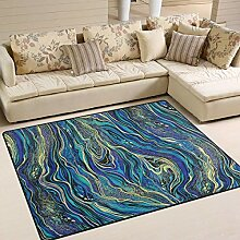 Abstrakter Marmorierungsbereich-Teppich 4
