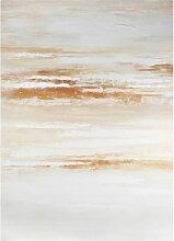 Abstrakter weiß-goldener Leinwanddruck 65x90