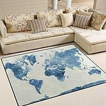 Abstrakter Weltkartenbereich-Teppich 4