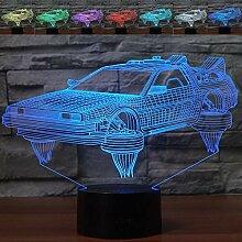 Abstraktes 3D-Auto-Nachtlicht mit optischer