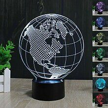 Abstraktes 3D-Erdamerika-Globus optische Illusion