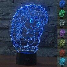 Abstraktes 3D-Igel-Nachtlicht mit optischer