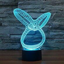 Abstraktes 3D-Licht Bunte LED visuelles Licht