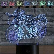 Abstraktes 3D-Motorrad-Nachtlicht mit optischer
