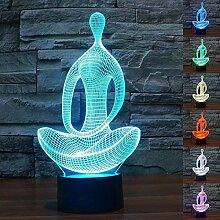 Abstraktes 3D-Nachtlicht für Yoga, Meditation,