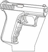 Abstraktes 3D-Pistole, optische Illusion,