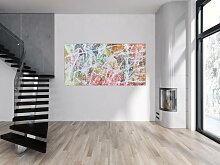 Abstraktes Acrylbild XXL in 100x200cm Kunst im