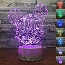 Abstraktes Cartoon-Maus, 3D-Nachtlicht mit