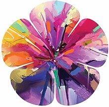 Abstraktes Ölbild mit 5 Blütenblättern