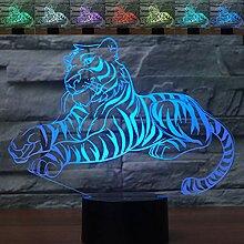 Abstraktive 3D Igel optische Illusion Nachtlicht 7