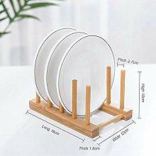 Abtropfbrett Holz Schüssel Teller Lagerung