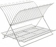 Abtropfgestell - Abtropfgitter - Geschirr Abtropfkorb - Abtropfständer - Abtropfschale - Geschirrabtropfständer - Geschirrabtropfkorb