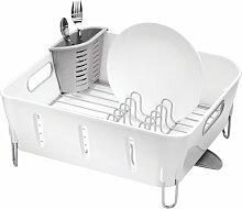 Abtropfgestell Compact simplehuman Farbe: Weiß