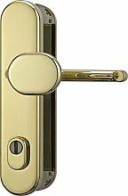ABUS Tür-Schutzbeschlag HLZS814 MS messing mit Zylinderschutz rund 12245