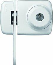 ABUS Tür-Zusatzschloss 7535 mit beidseitigem Zylinder & Sperrbügel für Türen mit schmalen Rahmenprofilen, weiß, 58928