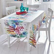Abwaschbare Baumwoll-Tischdecke mit