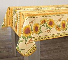 Abwaschbare Tischdecke gelb-rot Sonnenblumen,