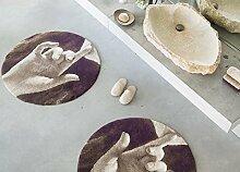 Abyss & Habidecor.- Badematte Chut, Rundteppich 100 cm, farbe 771 Funghi