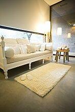 Abyss & Habidecor - Badematte Shag - 70 x 140 cm - Farbe 100 (White)
