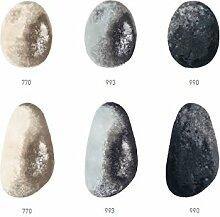 Abyss & Habidecor Badematte Stone, farbe linen, 100% Baumwolle (990 schwarz, 70x120 cm)