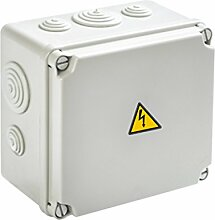 Abzweigdose / Verteilerdose Aufputz 175x151x95mm - IP65 - inkl. Warnaufkleber