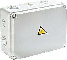 Abzweigdose / Verteilerdose Aufputz 241x180x95mm - IP65 - inkl. Warnaufkleber