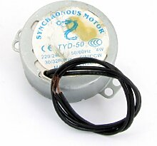 AC 220V-240V 30 / 32RPM 4W 50 / 60Hz CW / CCW 7mm Dia Fan synchroonmotor