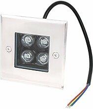 AC 85-245V 4W LED-Garten-Landschaftsbau Buried-Flut-Lampe Blaulich
