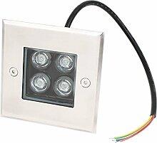 AC 85-245V 4W Platz LED-Garten-Buried-Flut-Licht Grüne Lampe