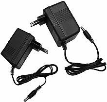 AC - AC 24V Steckernetzteil 5,5mm Hohlstecker Wechselspannung Netzteil Trafo (Ampere: 1A) (24V/500mA)
